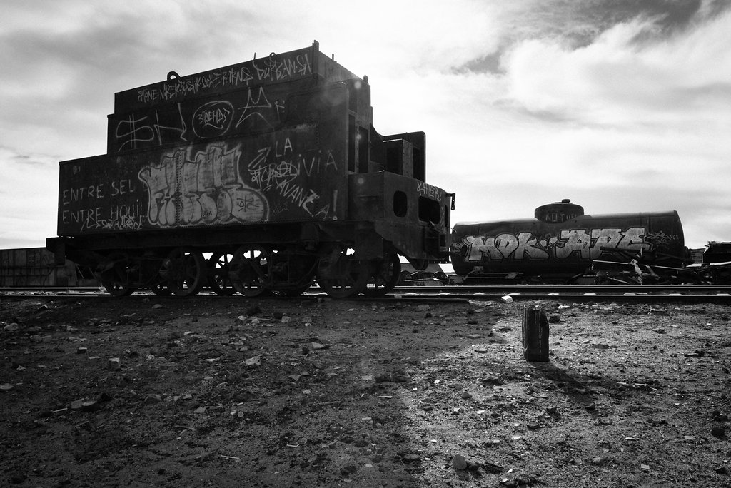 Old trains were left there